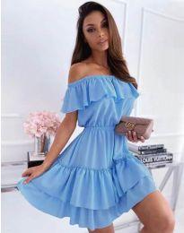 Obleka - koda 6777 - svetlo modra