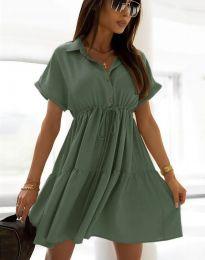 Obleka - koda 6292 - olivno zelena