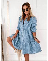 Obleka - koda 5557 - svetlo modra