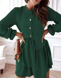 Obleka - koda 2829 - temno zelena