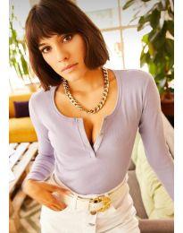 Bluza - koda 11495 - 6 - vijolična