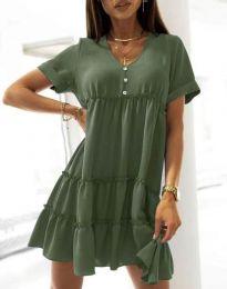 Obleka - koda 7205 - olivno zelena