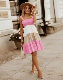 Obleka - koda 11922 - svetlo roza