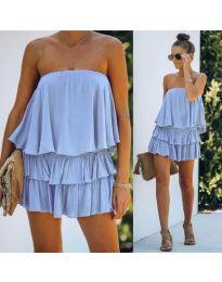 Obleka - koda 0489 - svetlo modra