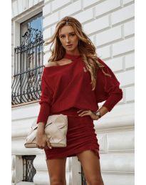 Obleka - koda 8987 - bordo