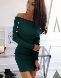 Obleka - koda 1326 - 1 - temno zelena