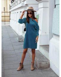 Obleka - koda 8171 - turkizna