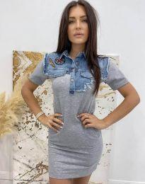 Obleka - koda 2473 - 1 - siva