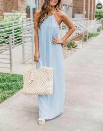 Obleka - koda 6258 - 2 - svetlo modra