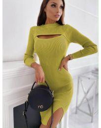 Obleka - koda 4528 - gorčica