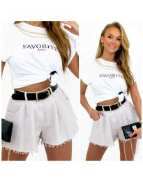 Kratke hlače - koda 4563 - 2 - bela