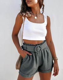 Kratke hlače - koda 8164 - temno siva