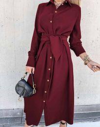 Obleka - koda 1860 - bordo