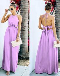 Obleka - koda 6121 -  svetlo vijolična