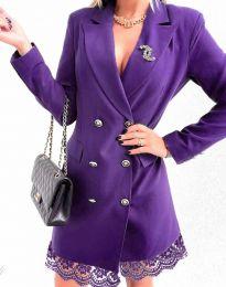 Obleka - koda 6955 - vijolična