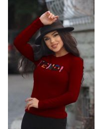 Bluza - koda 6164 - 4 - bordo