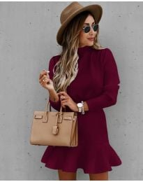 Obleka - koda 9140 - bordo
