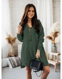 Obleka - koda 6113 olivno zelena
