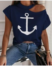 Majica - koda 206 - temno modra
