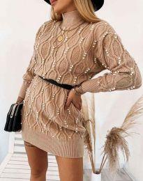 Obleka - koda 3904 - кapučino