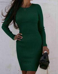 Obleka - koda 0891 - temno zelena