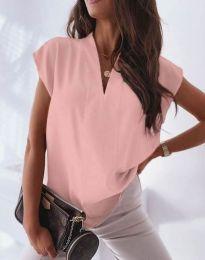 Атрактивна дамска блуза в розово - код 1745