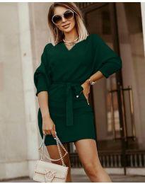 Obleka - koda 9876 - тъмно зелен