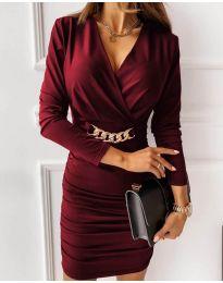 Obleka - koda 8999 - bordo