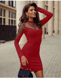 Obleka - koda 2484 - rdeča