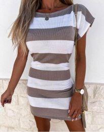 Obleka - koda 4633 - rjava
