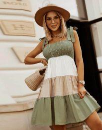 Obleka - koda 11922 - olivno zelena