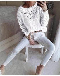 Bluza - koda 6182 - bela