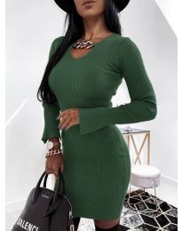 Obleka - koda 5666 - olivna