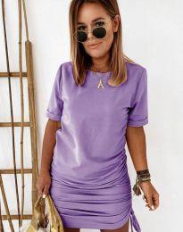 Obleka - koda 2591 - 3 - vijolična