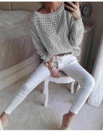 Bluza - koda 6182 - siva