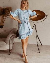 Obleka - koda 1350 - 1 - svetlo modra