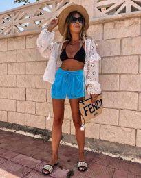 Kratke hlače - koda 6614 - 1 - svetlo modra