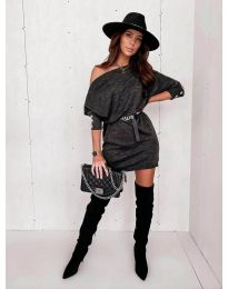 Obleka - koda 4442 - grafitna