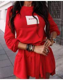 Obleka - koda 0789 - 2 - rdeča
