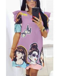 Obleka - koda 546 - vijolična