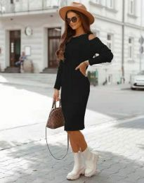 Obleka - koda 8203 - črna