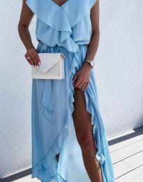 Obleka - koda 6432 - svetlo modra