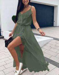 Obleka - koda 6432 - olivno zelena