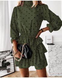 Obleka - koda 3665 - olivna