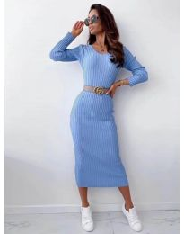 Obleka - koda 5878 svetlo modra