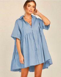 Obleka - koda 6464 - svetlo modra