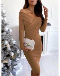 Obleka - koda 6130 - rjava