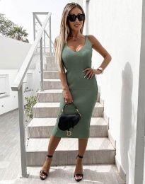 Obleka - koda 2960 - olivno zelena