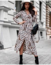 Obleka - koda 5555 - 3 - bela