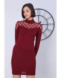 Obleka - koda 6099 - 2 - bordo
